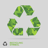 A folha recicl o símbolo Imagem de Stock Royalty Free