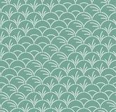 Folha semicircular japonesa Art Seamless Pattern ilustração stock