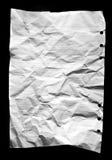 Folha solta de papel amarrotada Imagem de Stock