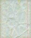 Folha vazia detalhada do papel da matemática imagem de stock royalty free