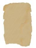 Folha velha de papel Fotografia de Stock