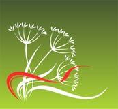 Folha verde ilustração stock