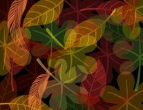 Folhagem de outono da noite ilustração royalty free