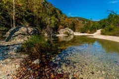 Folhagem de outono em parque estadual perdido dos bordos em Texas fotos de stock royalty free