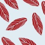 Folhas abstratas modernas no teste padrão sem emenda do fundo azul ilustração do vetor