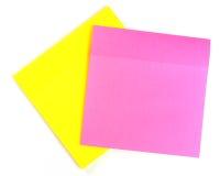Folhas amarelas e cor-de-rosa a gravar Imagem de Stock