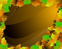 Folhas caídas. Fundo brilhante. Imagem de Stock Royalty Free