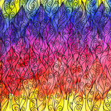 Folhas coloridas da textura da aquarela Fotos de Stock Royalty Free