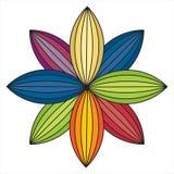 folhas coloridas de uma flor Fotografia de Stock Royalty Free