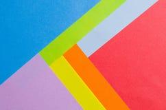 Folhas coloridas do papel da cor, fundo abstrato Fotografia de Stock