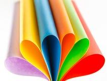 Folhas coloridas do papel da cor, fundo abstrato Fotografia de Stock Royalty Free