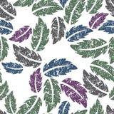 Folhas coloridas - fundo sem emenda do vetor Imagem de Stock Royalty Free