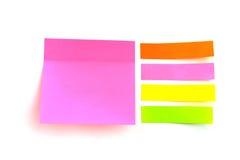 Folhas coloridas para escrever formas diferentes Foto de Stock Royalty Free