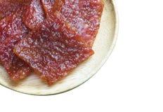 Folhas cortadas da carne de porco secada e friável Fotos de Stock
