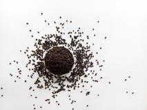 Folhas cruas do chá fotografia de stock
