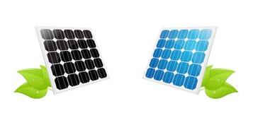 Folhas da célula solar Fotos de Stock Royalty Free