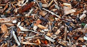Folhas da casca e palha de canteiro de madeira dos chippings Imagens de Stock Royalty Free