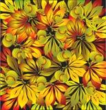 Folhas da castanha do outono ilustração do vetor