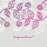 Folhas da cor-de-rosa Imagem de Stock Royalty Free