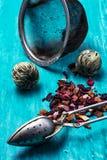 Folhas da fabricação de cerveja do chá Fotos de Stock Royalty Free