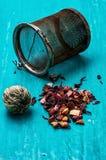 Folhas da fabricação de cerveja do chá Imagens de Stock
