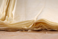 Folhas da pastelaria Imagens de Stock Royalty Free