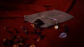 Folhas de chá dispersadas Fotografia de Stock