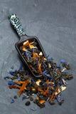 Folhas de chá fracas Foto de Stock