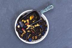 Folhas de chá fracas Imagens de Stock