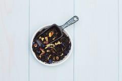 Folhas de chá fracas Fotos de Stock