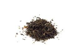 Folhas de chá isoladas fotografia de stock