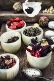 Folhas de chá para fabricar cerveja Imagens de Stock Royalty Free