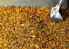 Folhas de chá secadas Fotos de Stock