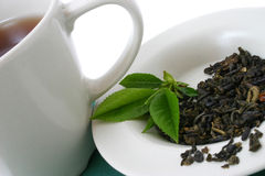 Folhas de chá secadas fotografia de stock royalty free