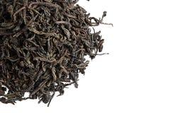 Folhas de chá secadas frouxas do chá preto fotografia de stock