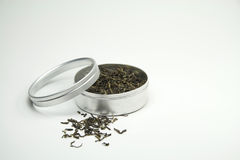 Folhas de chá verde Foto de Stock Royalty Free