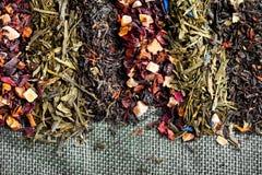 Folhas de chá Foto de Stock