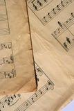 Folhas de música Fotografia de Stock