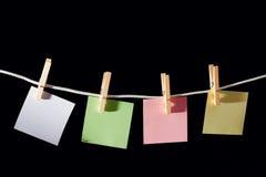 Folhas de memorando em branco Imagens de Stock