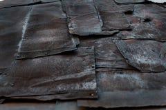 Folhas de metal velhas, oxidadas, fundo do vintage Imagem de Stock Royalty Free