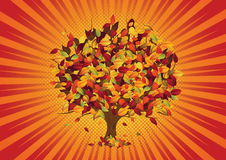 Folhas de outono - árvore ilustração do vetor