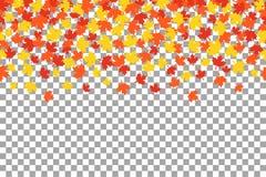 Folhas de outono alaranjadas do witn do fundo da ação de graças Fotos de Stock