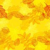 Folhas de outono coloridas ilustração royalty free