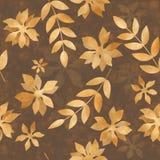 Folhas de outono douradas Fotos de Stock Royalty Free