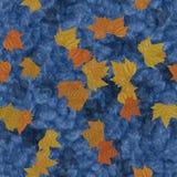 Folhas de outono no fundo gerado sem emenda da textura da água Fotos de Stock