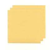 Folhas de papel amarelas Fotografia de Stock
