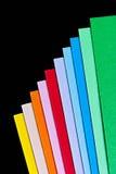 Folhas de papel coloridas imagens de stock royalty free