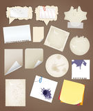 Folhas de papel do vintage Fotografia de Stock