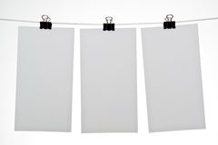 Folhas de papel em branco Foto de Stock