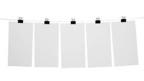 Folhas de papel em branco Imagem de Stock Royalty Free